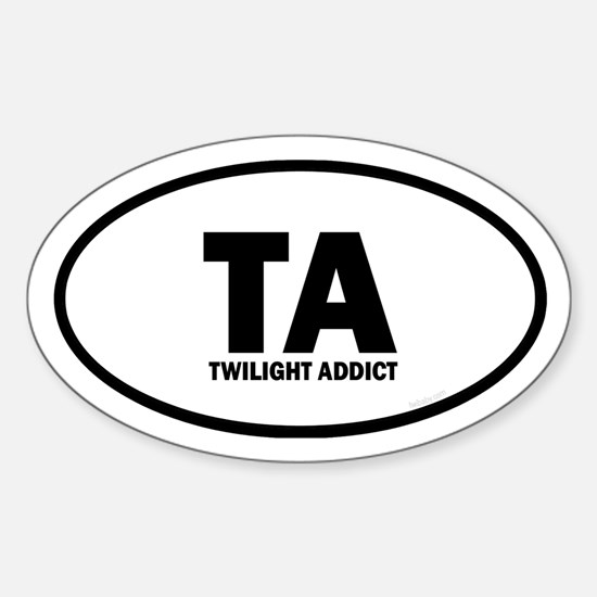 TA Twilight Addict Euro Sticker (Oval)
