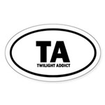 TA Twilight Addict Euro Sticker (Oval 50 pk)