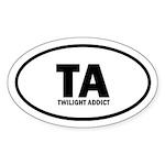 TA Twilight Addict Euro Sticker (Oval 50 pk)