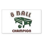 8 Ball Champion Sticker (Rectangle 10 pk)