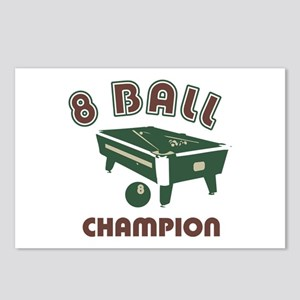 8 Ball Champion Postcards (Package of 8)