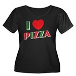 I love PIZZA Women's Plus Size Scoop Neck Dark T-S