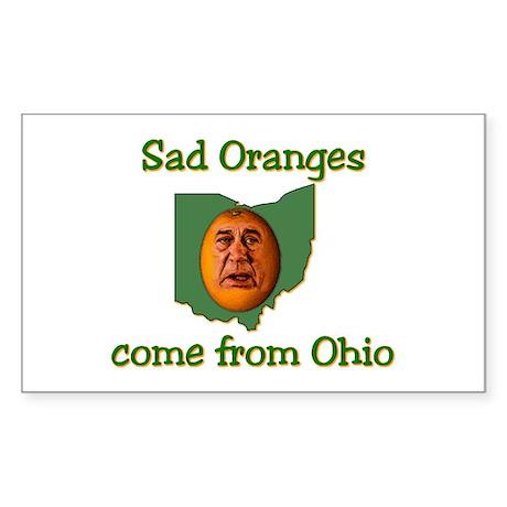Sad Oranges Sticker (Rectangle)