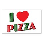I love PIZZA Sticker (Rectangle 10 pk)
