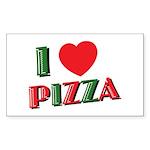 I love PIZZA Sticker (Rectangle)