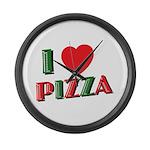 I love PIZZA Large Wall Clock
