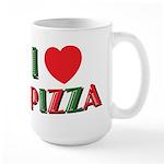 I love PIZZA Large Mug