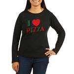 I love PIZZA Women's Long Sleeve Dark T-Shirt