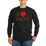 I love PIZZA Long Sleeve Dark T-Shirt