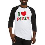 I love PIZZA Baseball Jersey