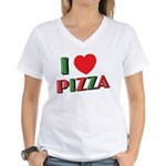 I love PIZZA Women's V-Neck T-Shirt