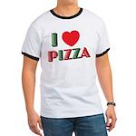 I love PIZZA Ringer T
