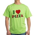 I love PIZZA Green T-Shirt