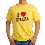 I love PIZZA Yellow T-Shirt
