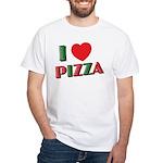 I love PIZZA White T-Shirt