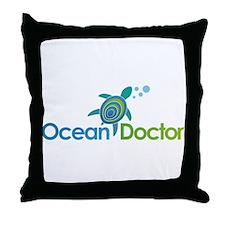 Ocean Doctor Logo Throw Pillow