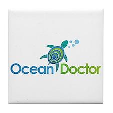 Ocean Doctor Logo Tile Coaster