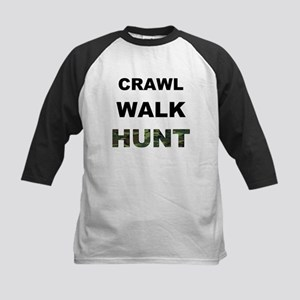 Crawl Walk Hunt Kids Baseball Jersey