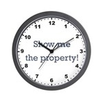 Show me the Property! Wall Clock