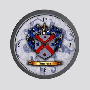 Anderson Coat of Arms Wall Clock