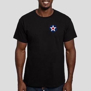 USA Roundel Men's Fitted T-Shirt (Dark)