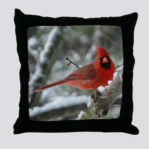 Cardinal Winter Throw Pillow