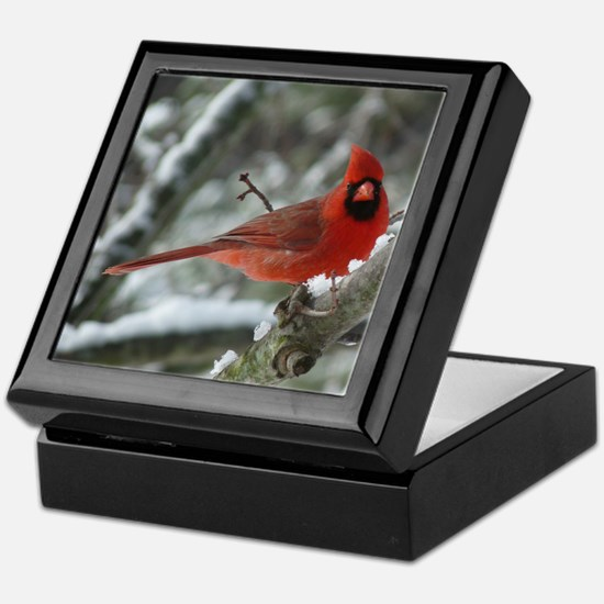 Cardinal Winter Keepsake Box