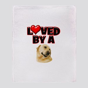Loved by a Labrador Throw Blanket