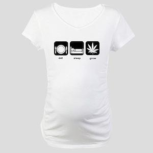 Eat Sleep Mary Jane Marijuana Maternity T-Shirt