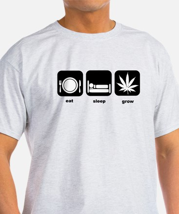 Eat Sleep Mary Jane Marijuana T-Shirt