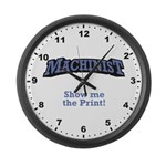 Show me the Print! Large Wall Clock