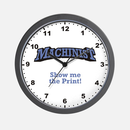 Show me the Print! Wall Clock
