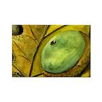 Golden Leaf with Acorn Rectangle Magnet