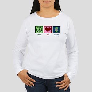 Peace Love Hockey Women's Long Sleeve T-Shirt