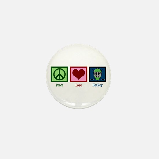 Peace Love Hockey Mini Button