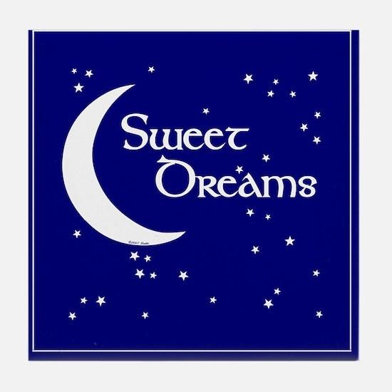 Sweet Dreams Moon Art Tile