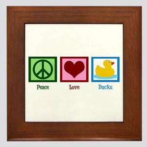 Peace Love Ducks Framed Tile
