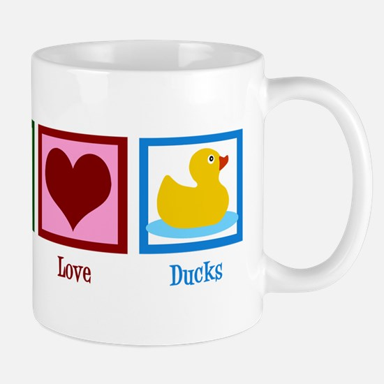 Peace Love Ducks Mug