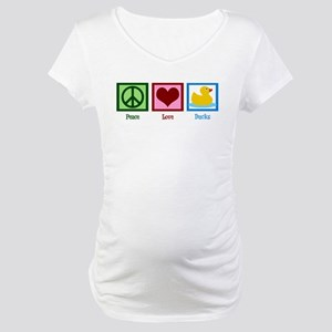 Peace Love Ducks Maternity T-Shirt