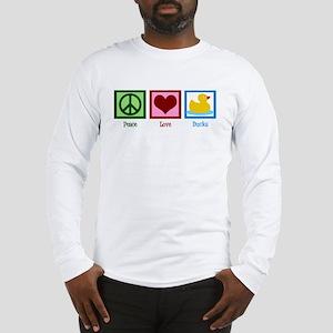 Peace Love Ducks Long Sleeve T-Shirt
