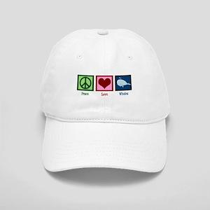 Peace Love Whales Cap
