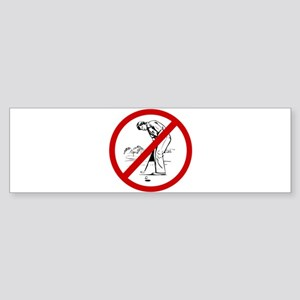 Anti Golfers Sticker (Bumper)