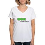 Spock was an Aspie Women's V-Neck T-Shirt