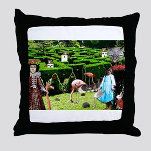 Croquet With The Queen Throw Pillow