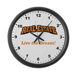 Live the Dream! Large Wall Clock