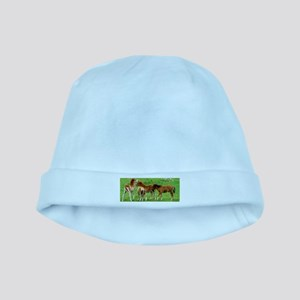 Mini Colts Playing In Field baby hat