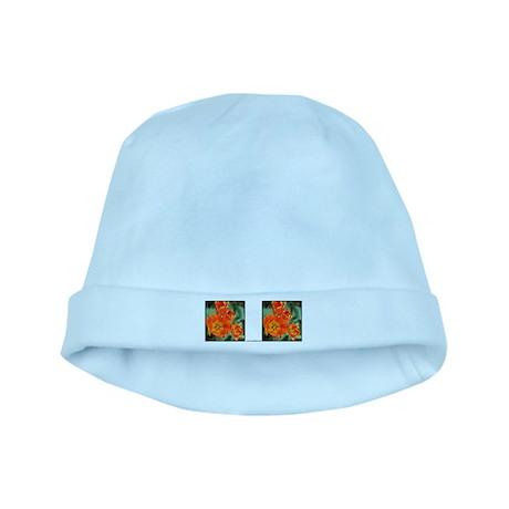 Orange Tulip baby hat