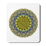Psychedic Pagan Pentagram Wiccan Mandala Mousepad
