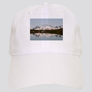 Alaska: Lake reflections of mountains Cap