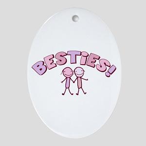 Besties Ornament (Oval)
